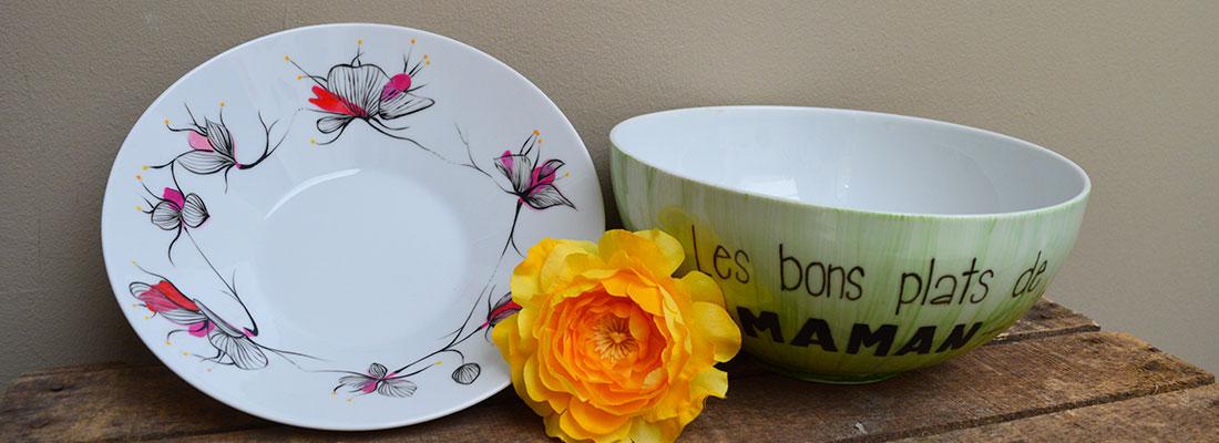 Réalisation peinture porcelaine