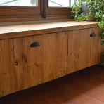 Meuble-banc rangement en bois