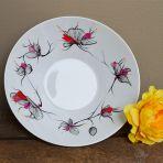 Plat porcelaine - Fleurs